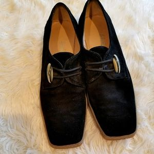 Salvador Ferragamo Black Suede Shoes Size 6